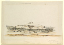'A hill on the right of the Sukur Cantonment.  15 Dec. 1840'